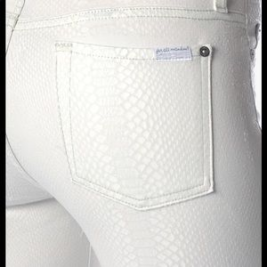 7 For All Mankind luxe snake skin skinnies size 27